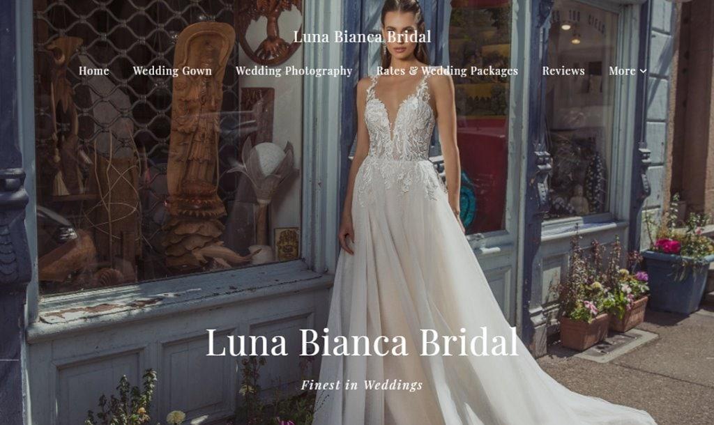 Luna Bianca Top Wedding Dress Stores in Singapore