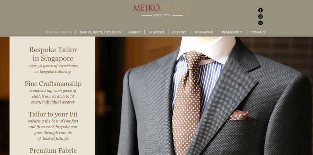 MEiko Tailor Top Tailors in Singapore