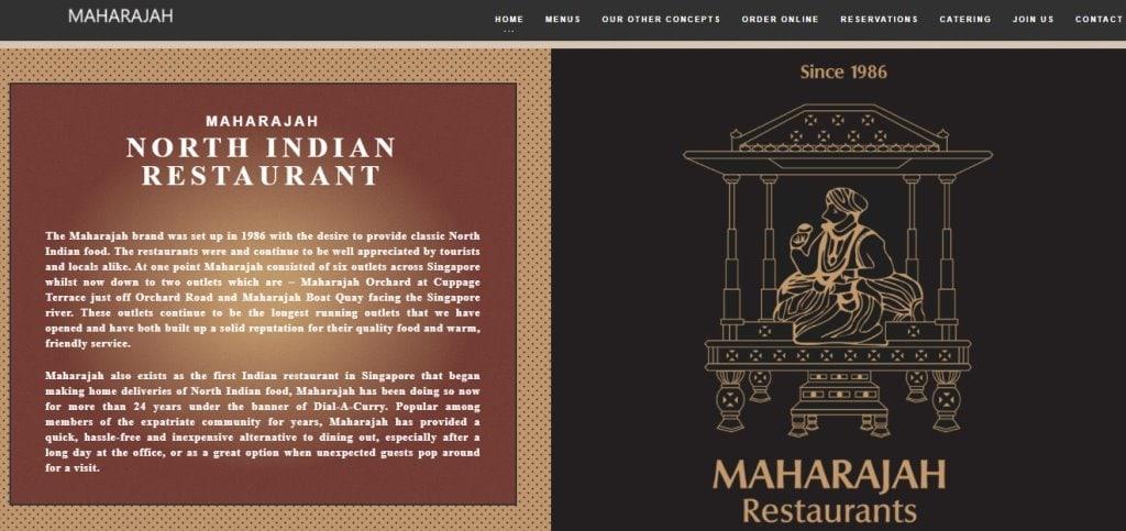 Maharajah Top Indian Restaurants in Singapore