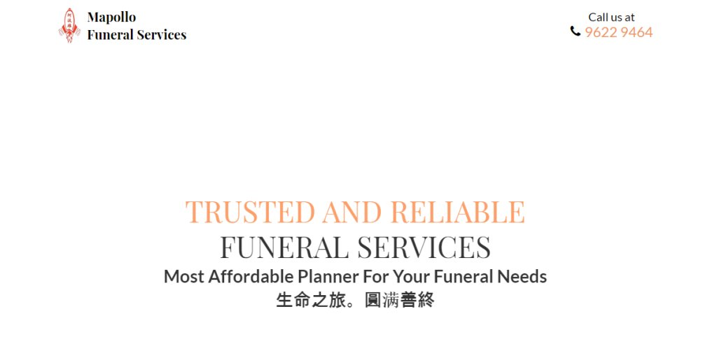 Mapollo Top Funeral Services in Singapore