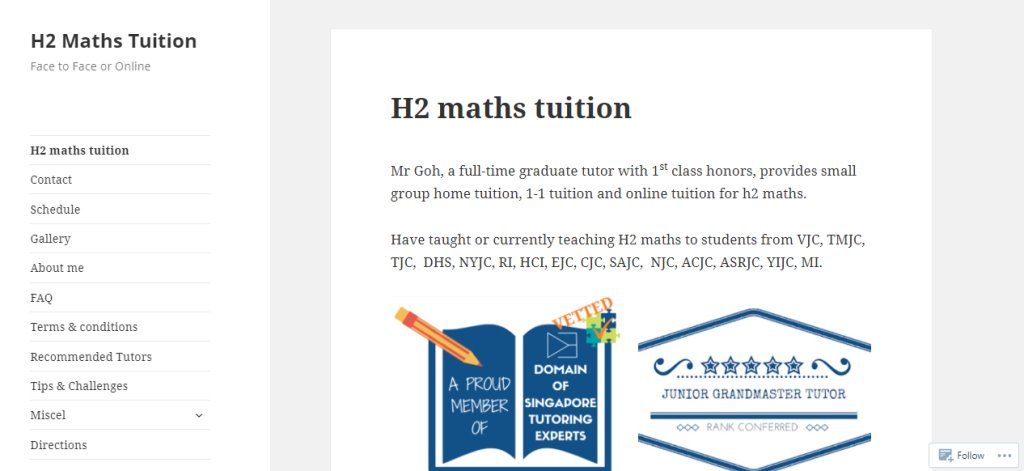 Math Distinction Top Maths Tuition Centres in Singapore