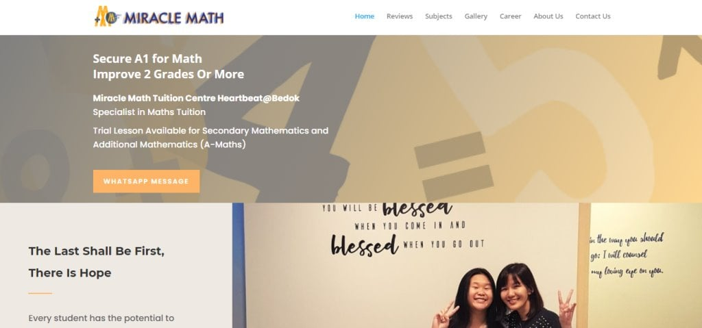 Miracle Math Top Maths Tuition Centres in Singapore
