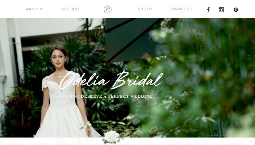 Odelia Bridal Top Wedding Dress Stores in Singapore