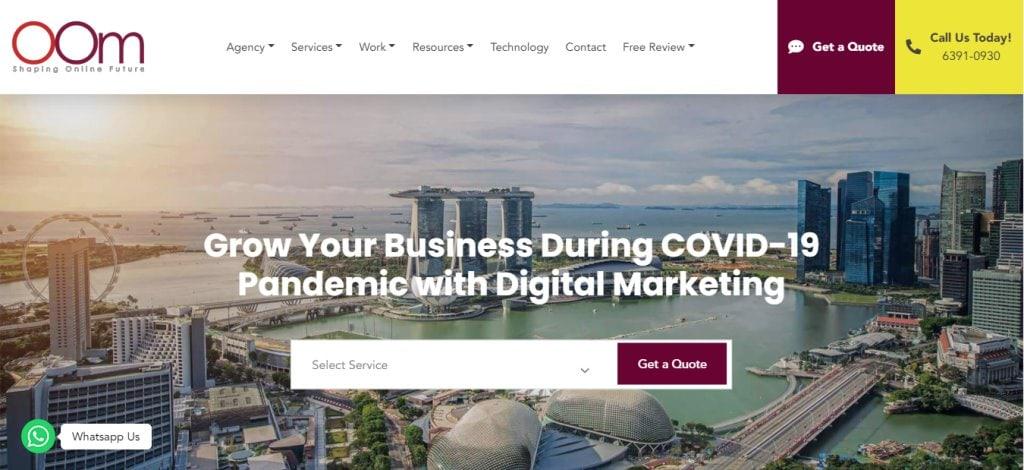 Oom Marketing 10 Types Digital Marketing Agencies in Singapore
