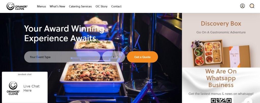 Orange Clove Top Food Caterers in Singapore