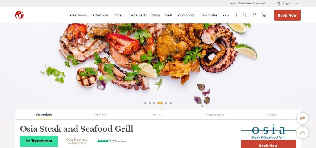 Osia Steak Top Fine Dining Restaurants in Singapore