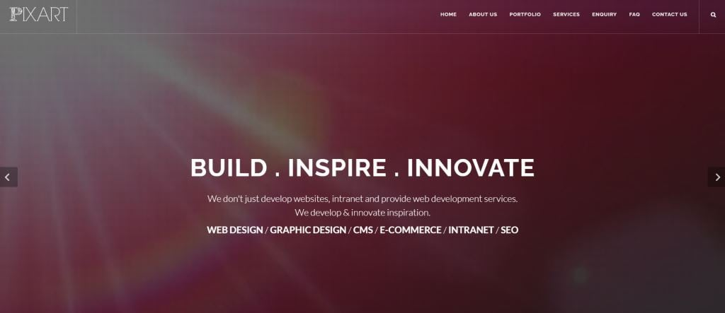 Pixart 70 Top Web Design Agencies In Singapore