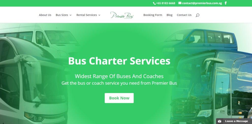 Premier Bus Top Bus Charter Rental in Singapore