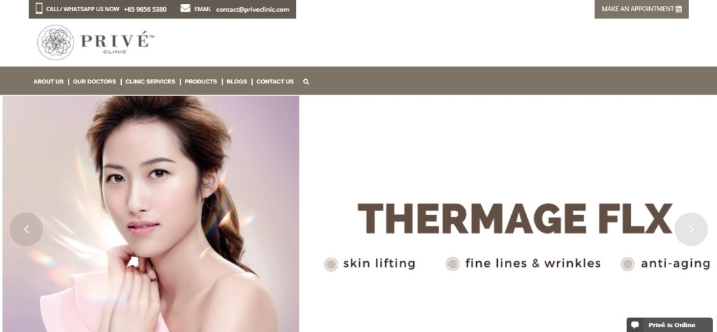 Prive Top Aesthetic Clinics in Singapore