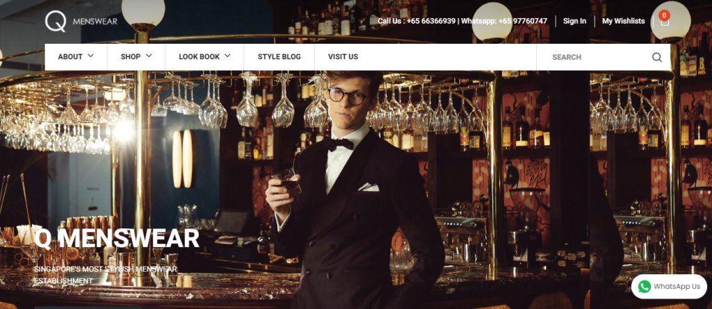 Q Men's Wear Top Tailors in Singapore