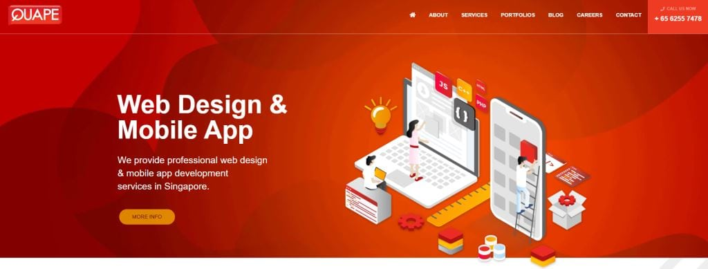 Quape 70 Top Web Design Agencies In Singapore