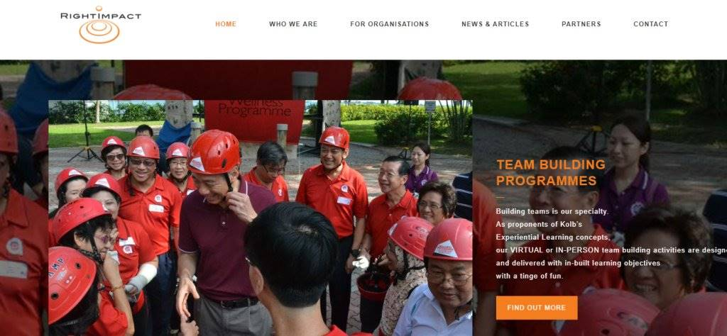 Right Impact Top Team Building Services in Singapore