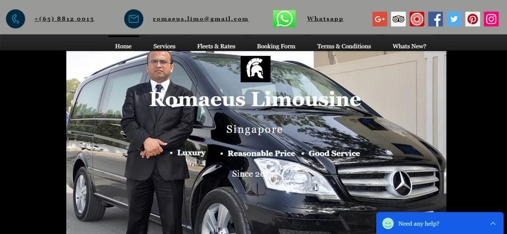 Romaeus Top Limousine Services in Singapore