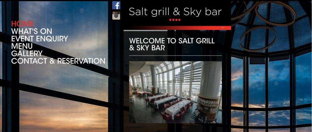 Salt & Grill Sky Bar Top Fine Dining Restaurants in Singapore
