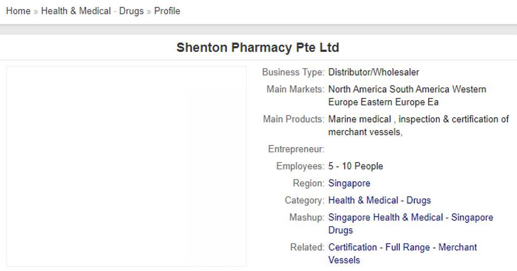 Shenton Pharma Top Pharmacists in Singapore