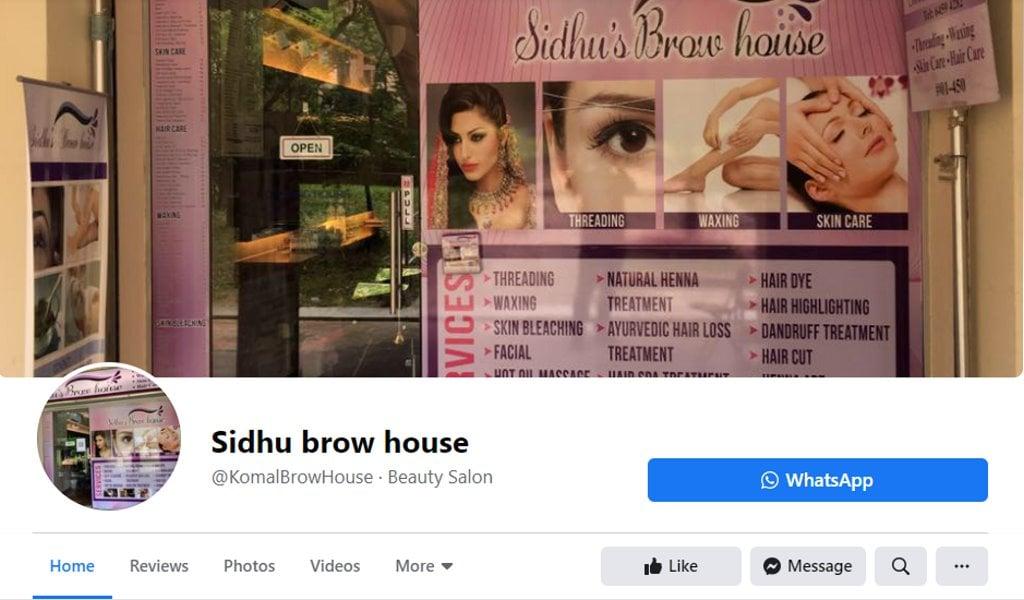 Sidhu Brow HOuse Top Eyebrow Threading Salons in Singapore