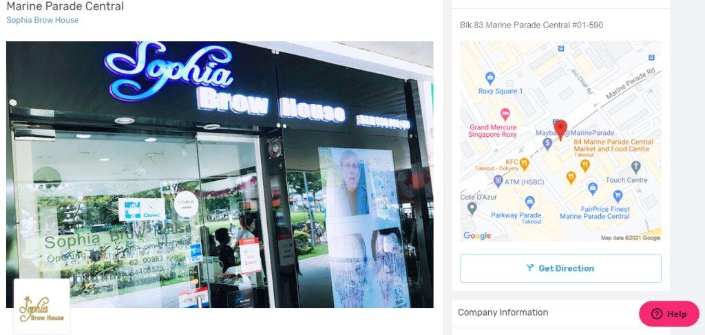 Sophia Brow House Top Eyebrow Threading Salons in Singapore