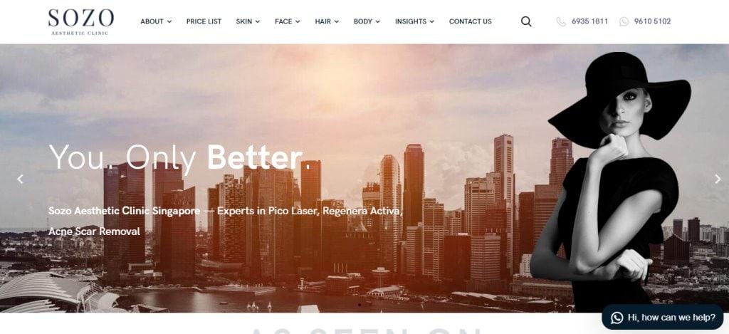 Sozo Top Aesthetic Clinics in Singapore