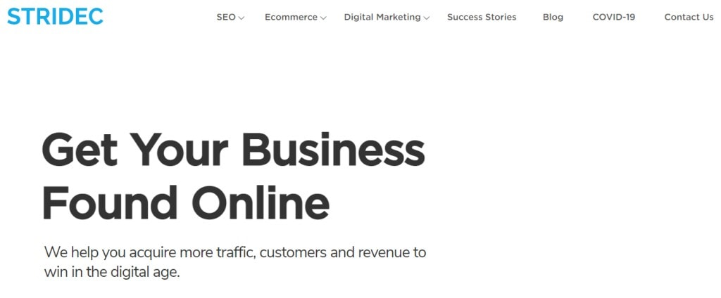 Stridec 10 Types Digital Marketing Agencies in Singapore