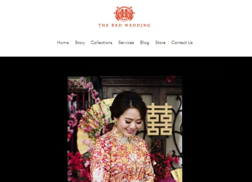 The Red Wedding Top Wedding Dress Stores in Singapore