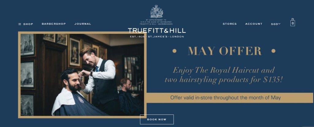 Truefitt Hill Top Men Spas In Singapore
