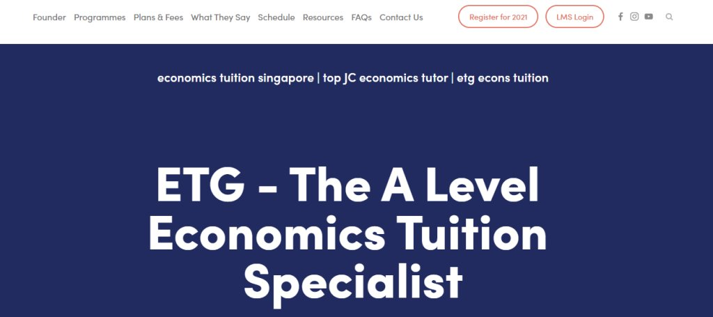 Tuition Genius Top Economics Tuition Agencies in Singapore