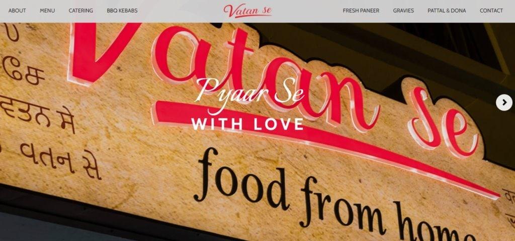 Vatan Se Top Indian Restaurants in Singapore