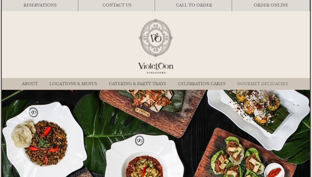Violet Oon Top Food Caterers in Singapore