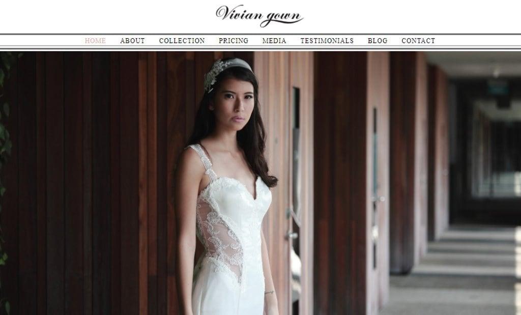 Vivian Gown Top Wedding Dress Stores in Singapore