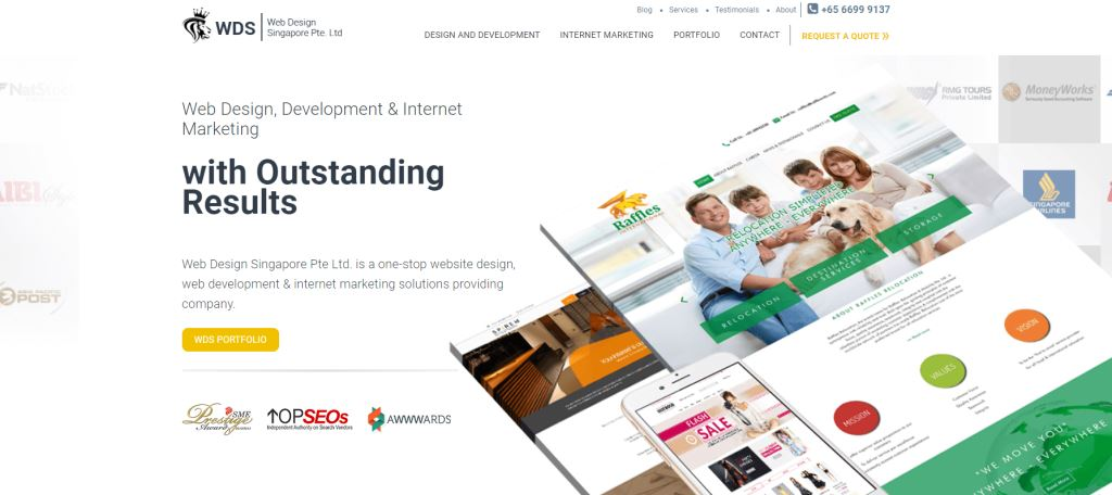 WDS 70 Top Web Design Agencies In Singapore