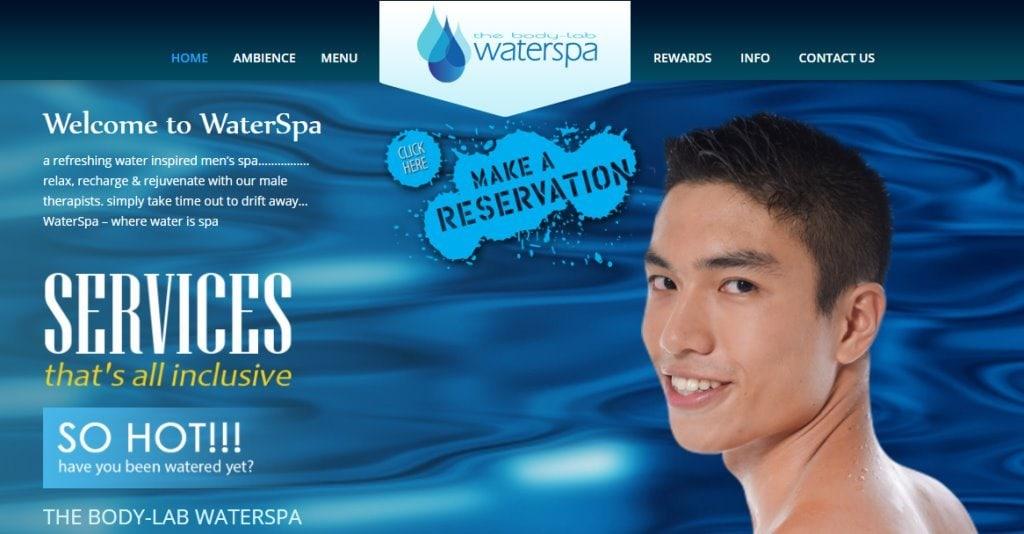 Water spa Top Men Spas In Singapore