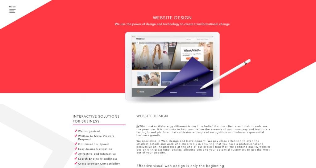 Webstergy 70 Top Web Design Agencies In Singapore