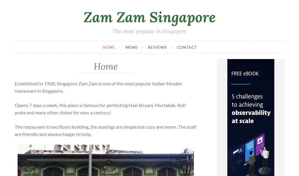 Zamzam SG Top Indian Restaurants in Singapore