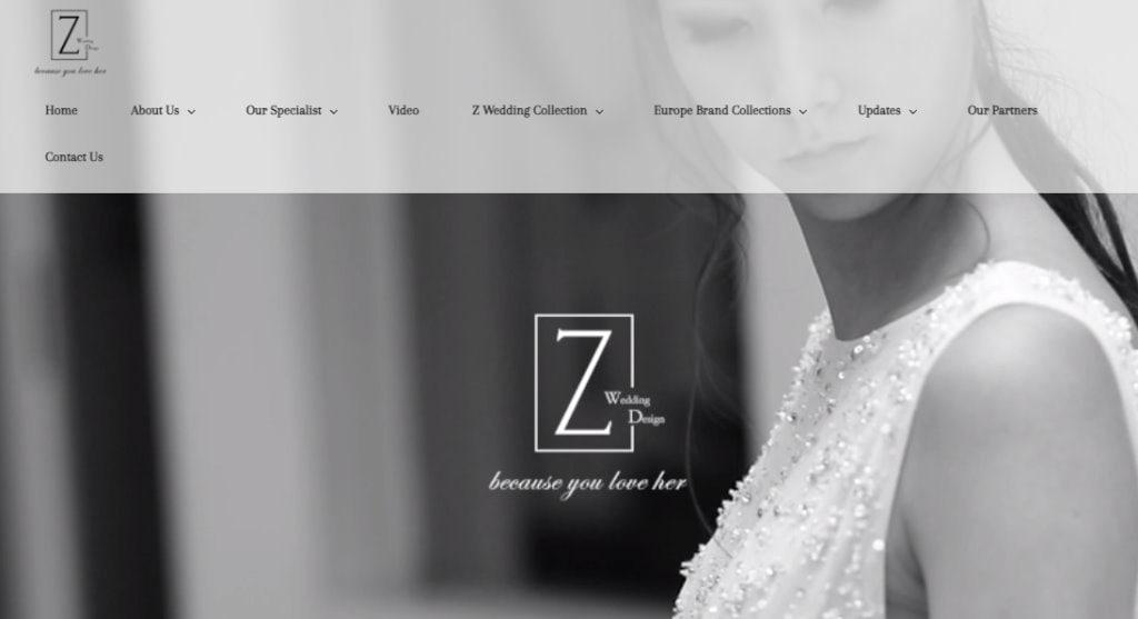 Zwedding Top Wedding Dress Stores in Singapore