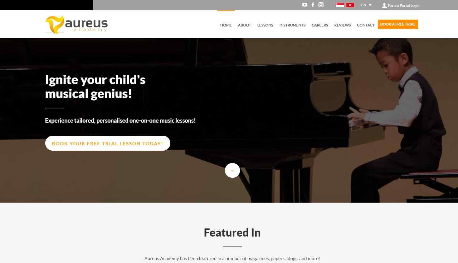 aureusa academy Top Music Schools in Singapore