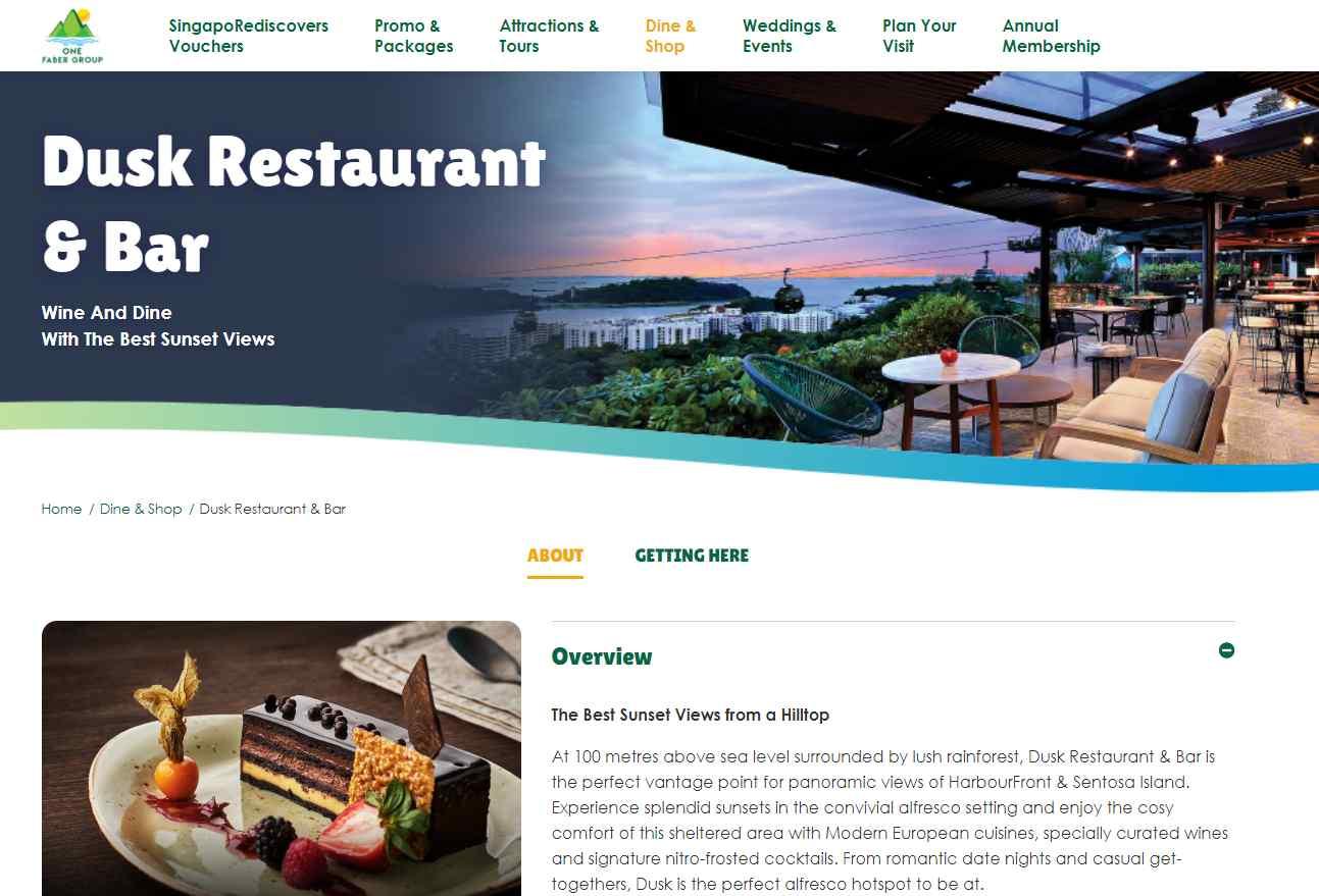 dusk restaurant Top Bars in Singapore