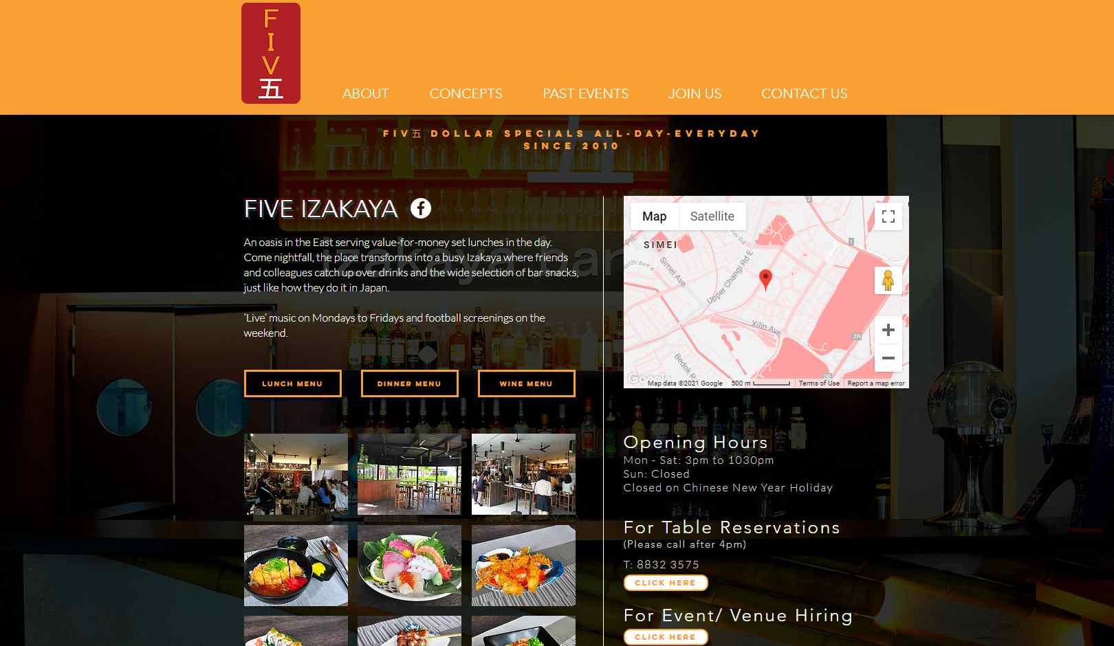 five izakaya Top Bars in Singapore