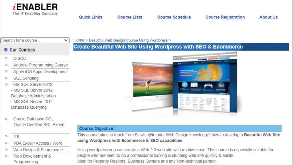 iEnabler Top Web Design Courses In Singapore