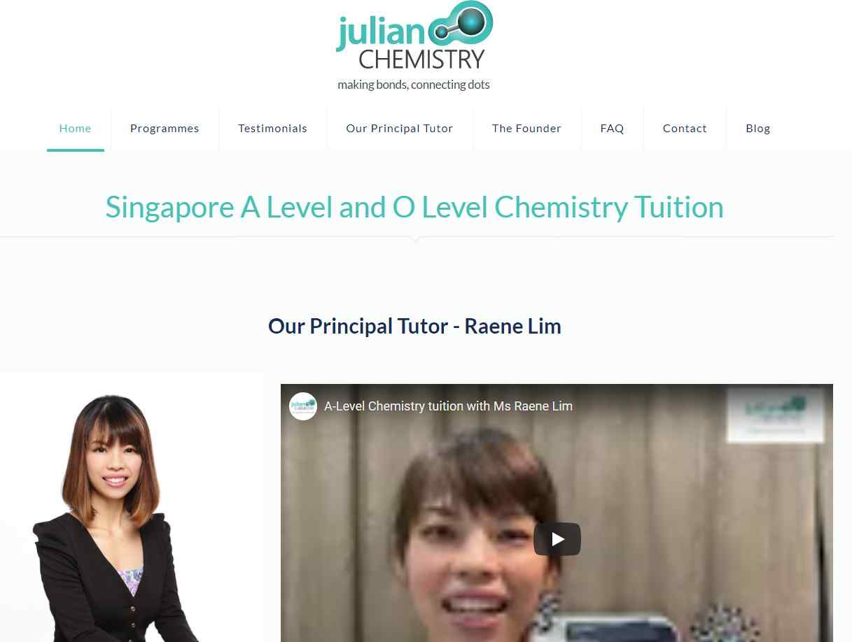 julian chemistry Top Chemistry Tuition Centres in Singapore