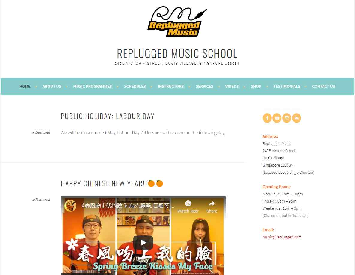 replugged Top Music Schools in Singapore