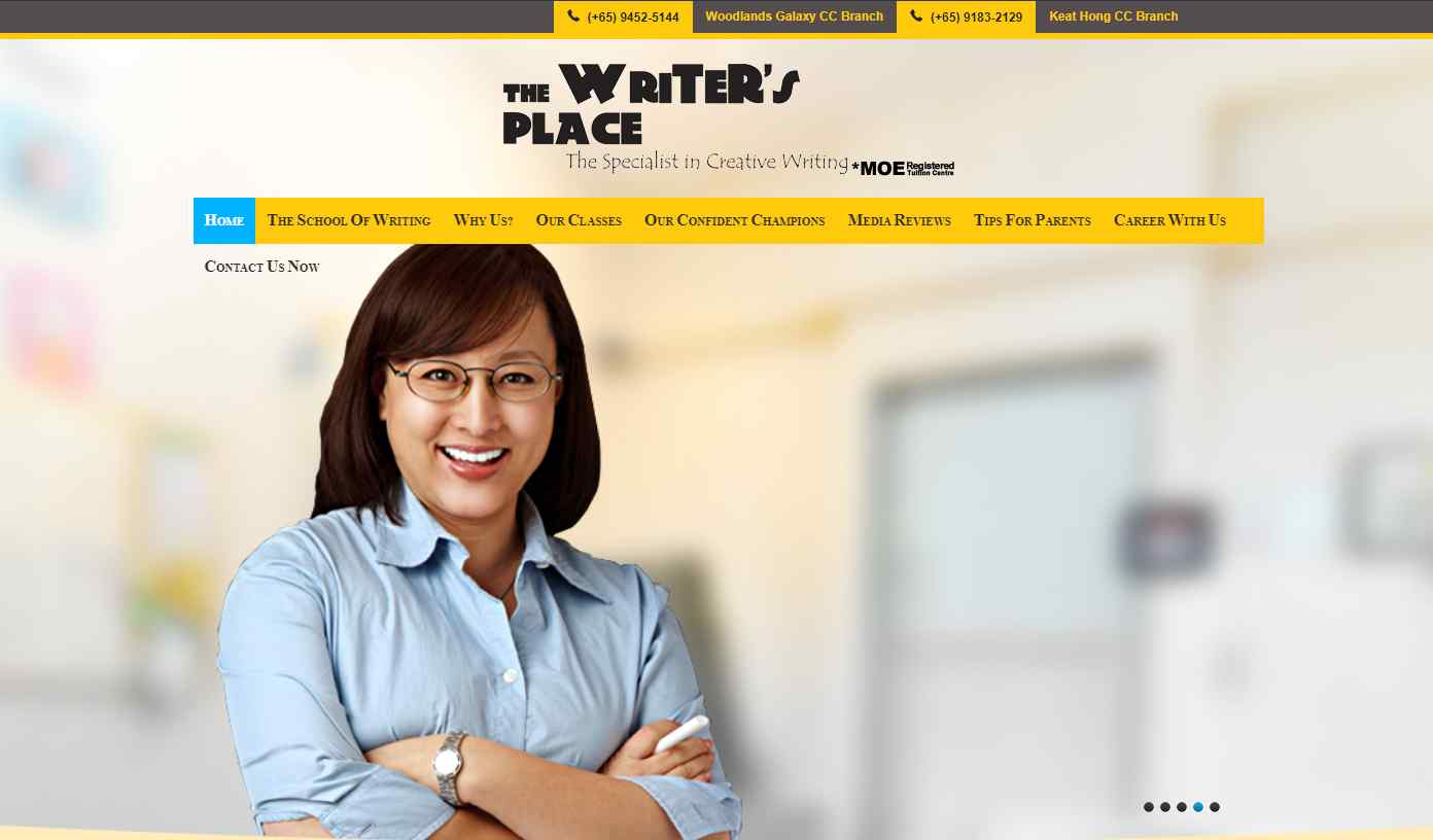 the writer's place Top English Tuition Centres in Singapore