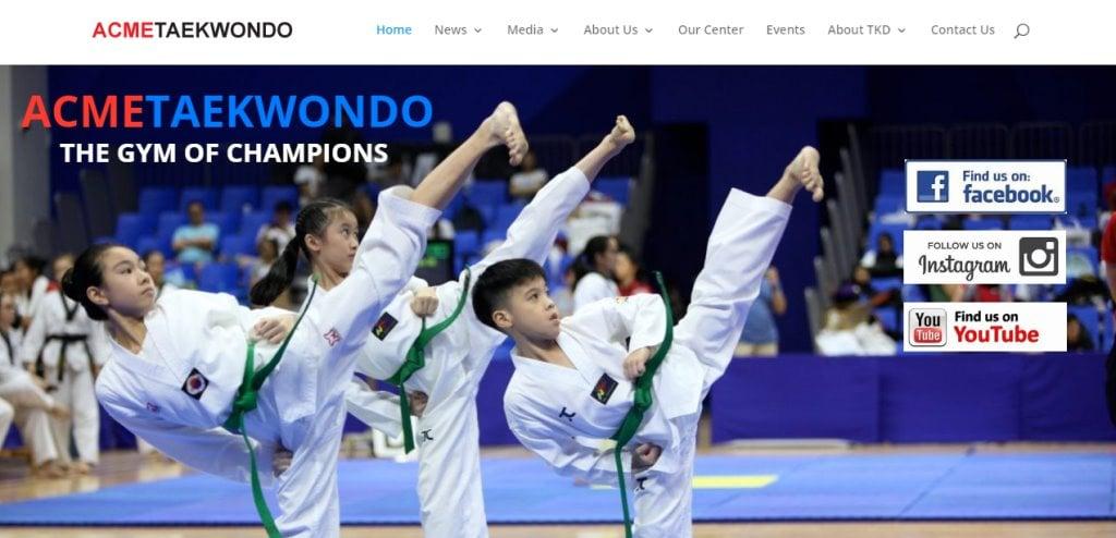 Acme Taekwondo Top Taekwondo Classes in Singapore