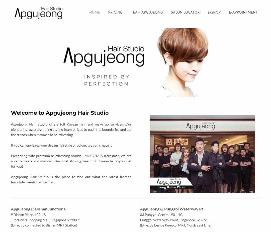 Apgujeong Top Korean Hair Salons in Singapore