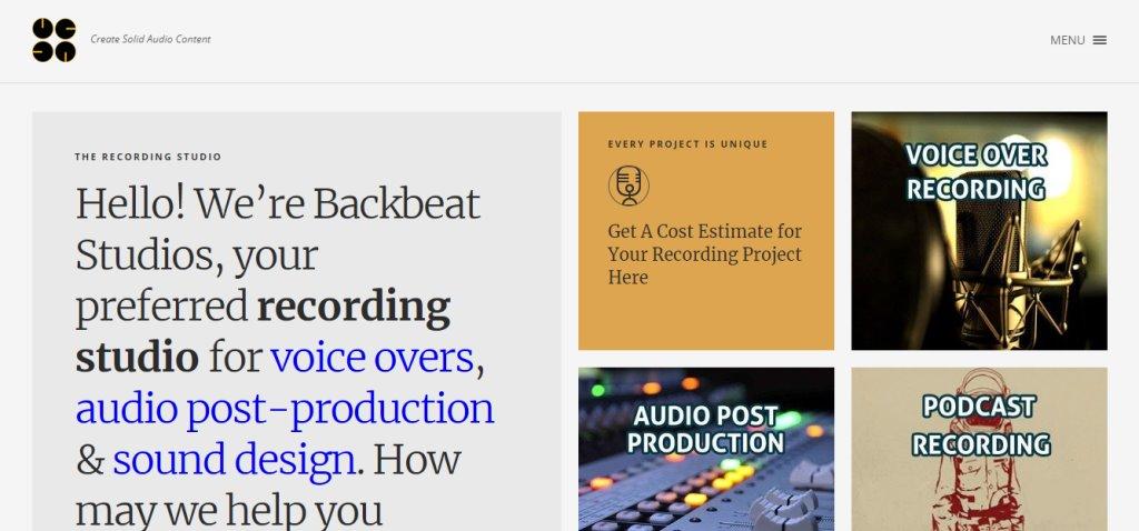 Backbeat Studio Top Music Studios in Singapore