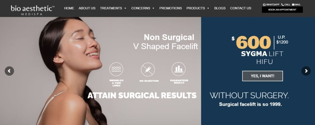 BioAesthetic Top Plastic Surgery Clinics in Singapore