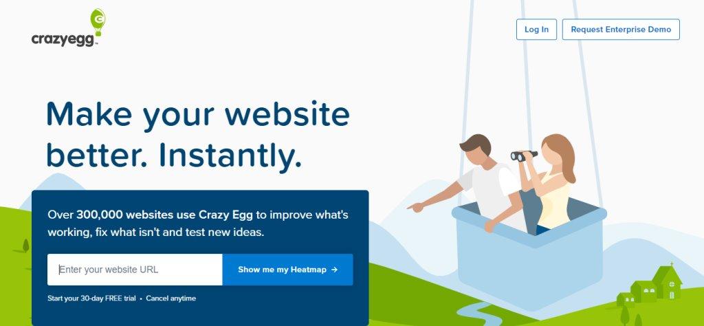 Crazy Egg Landing Page Optimisation in Singapore