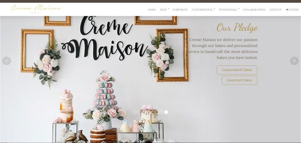 Creme Maison Top Wedding Cake Bakeries in Singapore