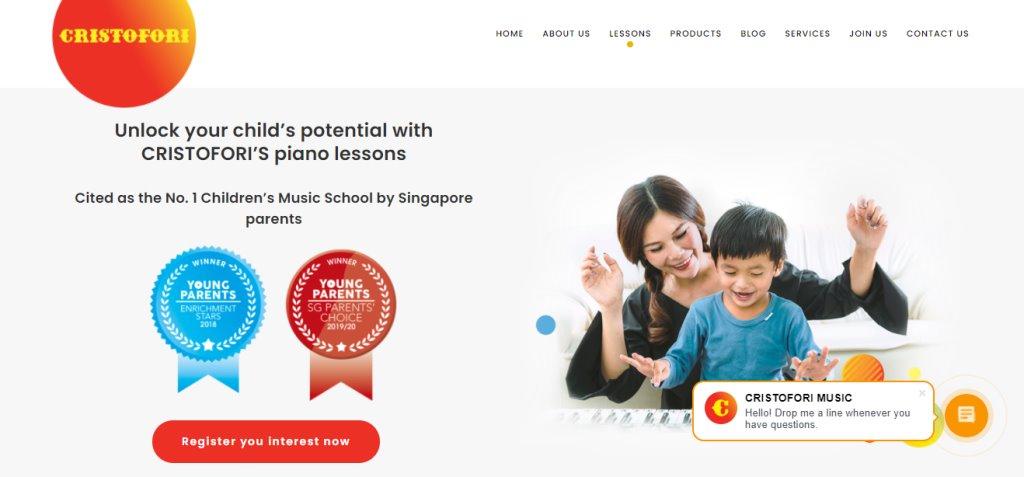 Cristofori Top Piano Lessons in Singapore