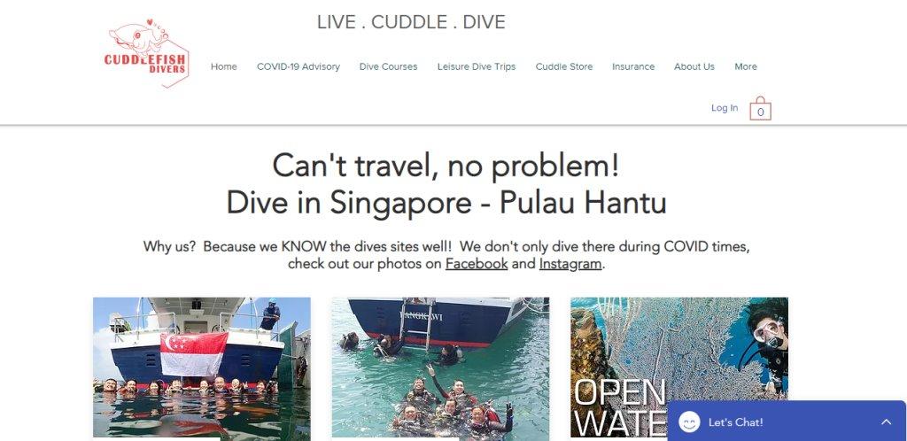 Cuddlefish Top Scuba Diving Schools in Singapore