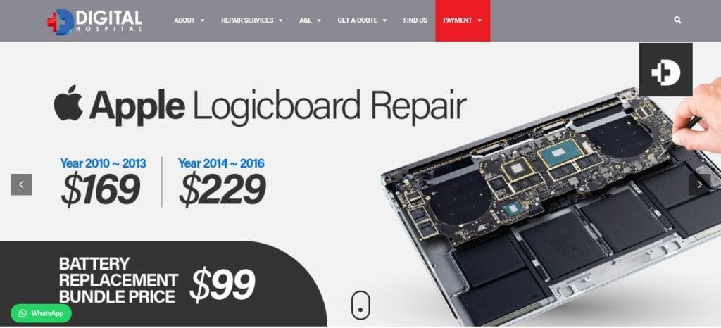 Digital Hospital Top Laptop Repair in Singapore